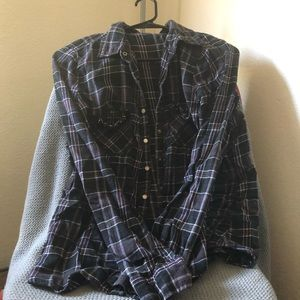 A long sleeve flannel